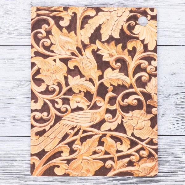 Доска разделочная «Дерево-жар птица», 15 × 20 см