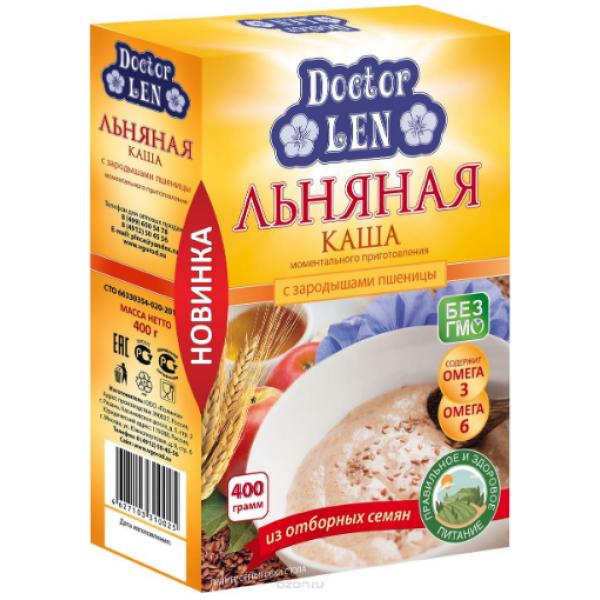Каша льняная с зародышами пшеницы Доктор лён 400 гр