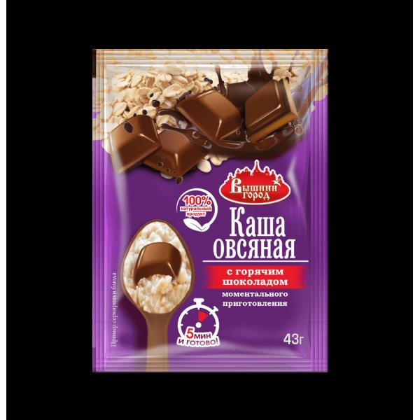 """Каша овсяная """"Вышний город"""" с горячим шоколадом, пак. 43 г"""