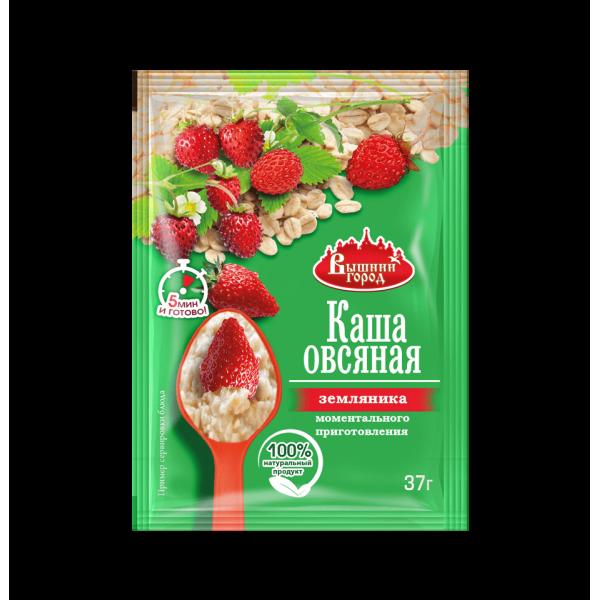 """Каша овсяная """"Вышний город"""" с земляникой, пак. 37г"""