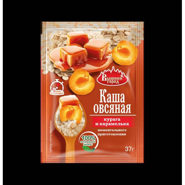 """Каша овсяная """"Вышний город"""" с курагой и карамелькой, пак. 37г"""