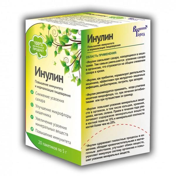 """Инулин """"Вышний город"""", 100 гр (20 шт по 5 гр.)."""