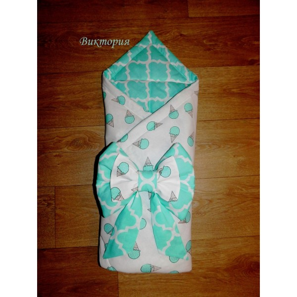 Конверт - одеяло на выписку новорожденного (стеганное)