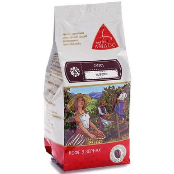 AMADO Эспрессо Кофе в зернах Арабика смесь 0,20 кг