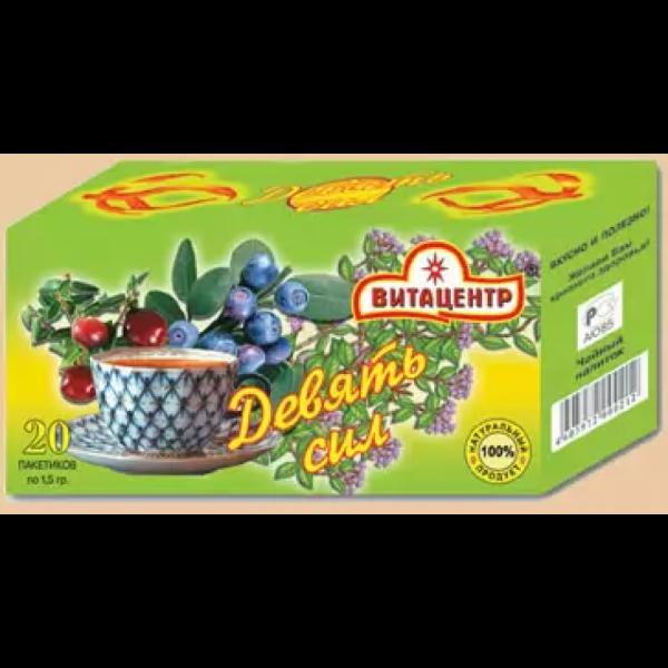 Травяной чай пакетированный ДЕВЯТЬ СИЛ 30 гр /20 пакетиков