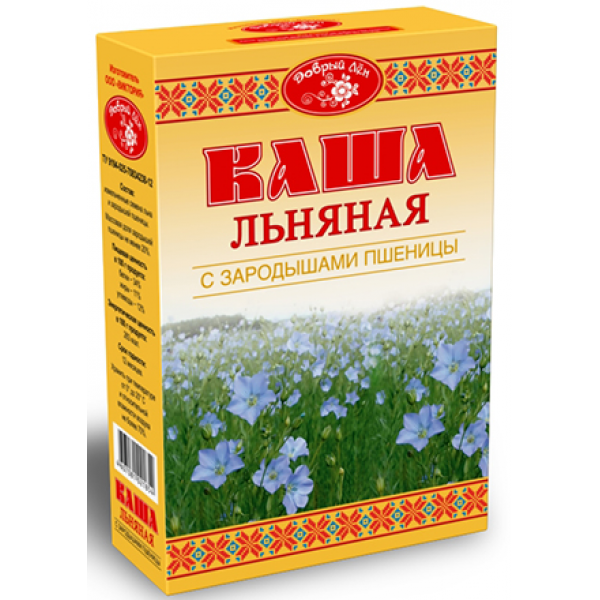 Каша льняная с зародышами пшеницы Добрый лен 400 гр