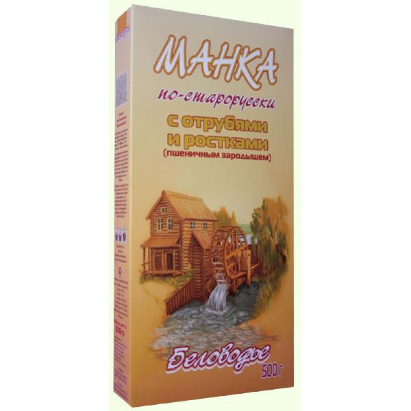 Крупка Манка по-старорусски с отрубями и ростками (пшеничным з