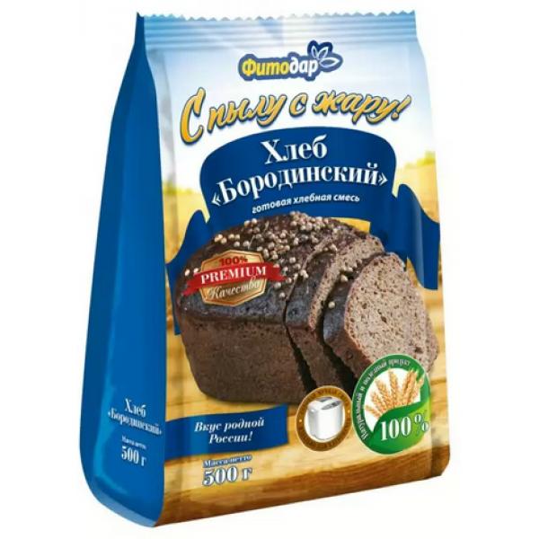 ХЛЕБ БОРОДИНСКИЙ хлебная смесь Фитодар 500гр.