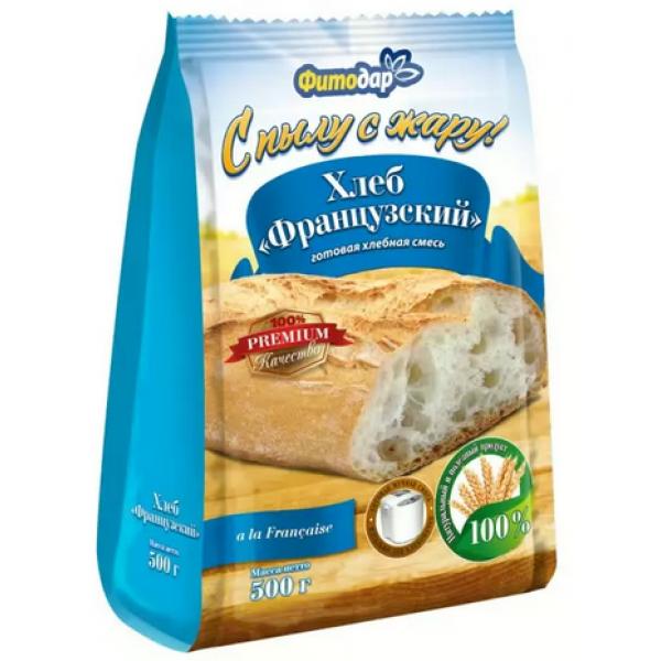 ХЛЕБ ФРАНЦУЗСКИЙ хлебная смесь Фитодар 500гр