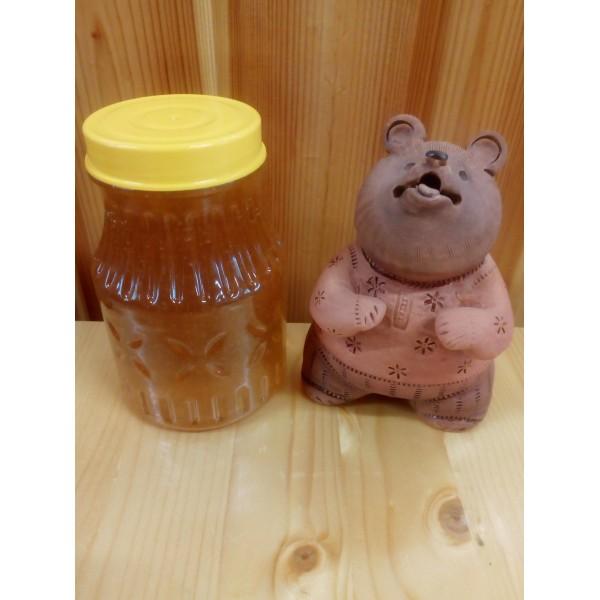 Мёд 570 гр Медовая баночка цветочный-разнотравье