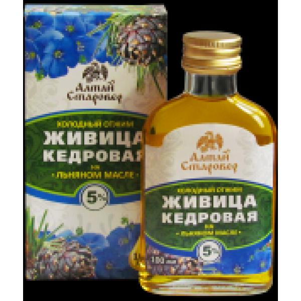 Масло Живица кедровая на льняном масле 100 мл 144,10 р