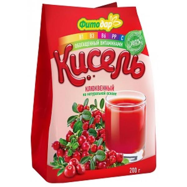 Кисель клюквенный на натуральной основе витаминизированный, 200