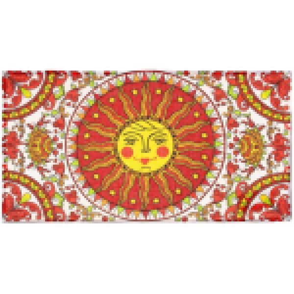 Collorista Вафельное полотенце Масленица Ярило 34*64 см