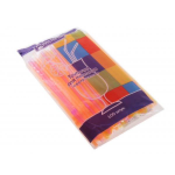 Трубочки для коктейля гофр.d=5мм L=210мм, флюорисцентн.разноцвет