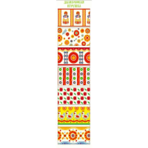 Пасхальная дек.т/у плёнка Вышивка 7 декоративных термоэтикеток