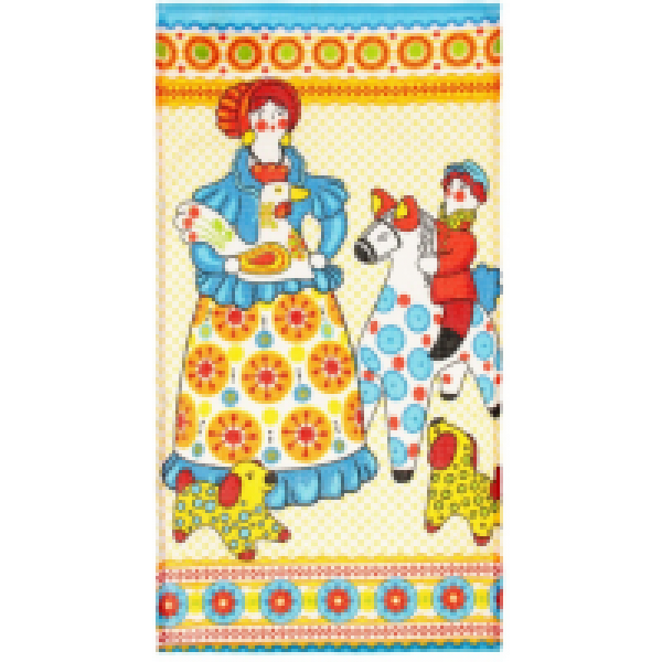 Collorista Вафельное полотенце Дымковская игрушка 34*64 см