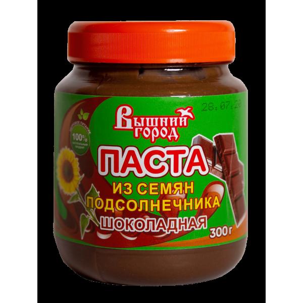 """Паста """"Вышний город"""" из семян подсолнечника шоколадная,300 г"""