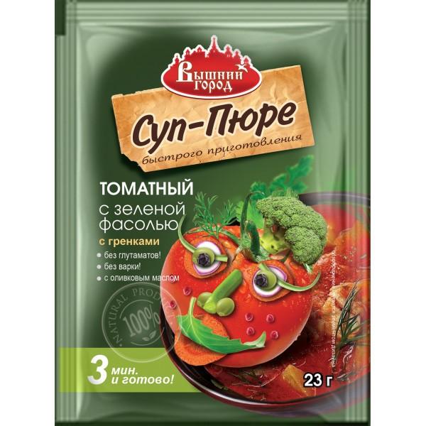 """Суп-пюре """"Вышний город"""" томатный с зеленой фасолью с гренками быстрого приготовления, пак. 23 гр."""