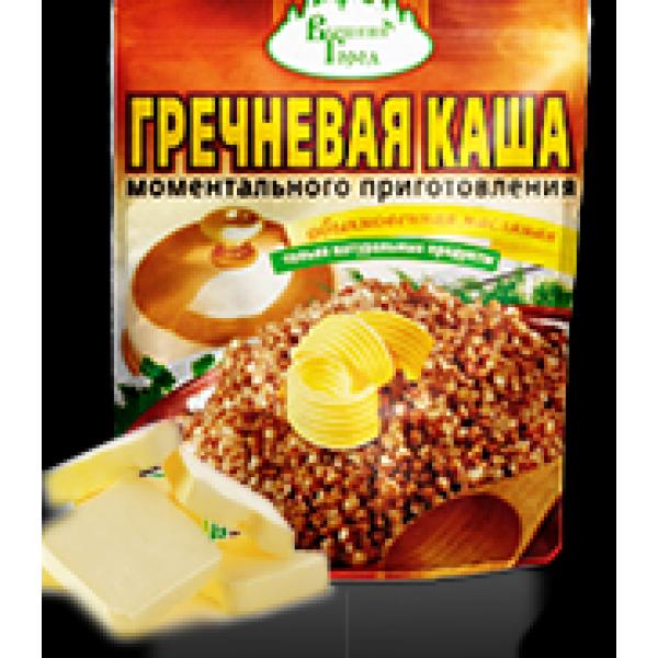 Каша гречневая момент. приготовл традиционная со сливками на фруктозе